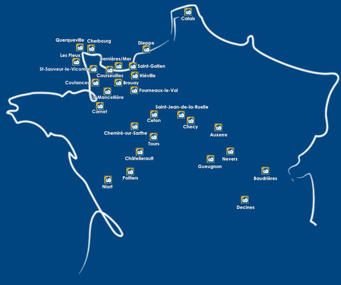 Carte des magasins